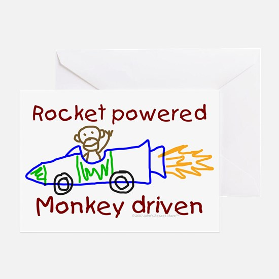 Monkey Driven Greeting Card