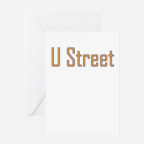 U Street Orange/Blue Greeting Card