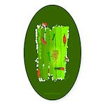 Absinthe Surfing Oval Sticker