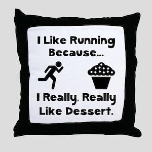 Running Dessert Throw Pillow