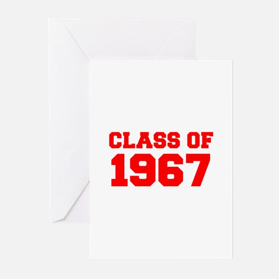 CLASS OF 1967-Fre red 300 Greeting Cards