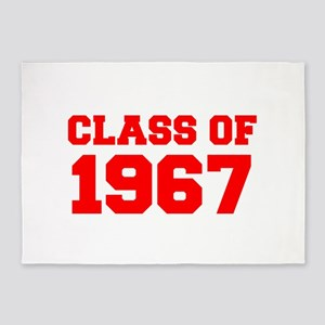 CLASS OF 1967-Fre red 300 5'x7'Area Rug