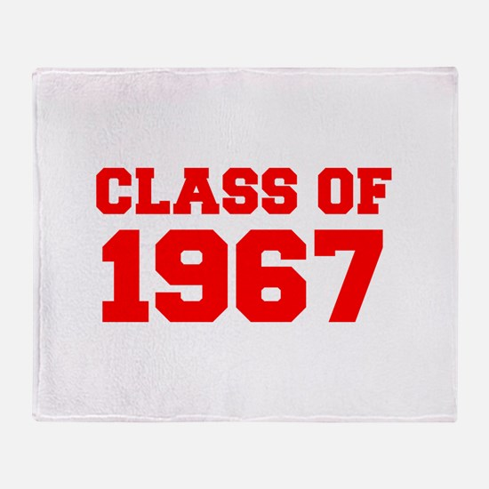 CLASS OF 1967-Fre red 300 Throw Blanket