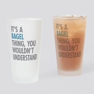 Bagel Thing Drinking Glass