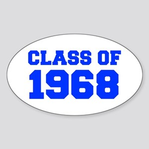 CLASS OF 1968-Fre blue 300 Sticker
