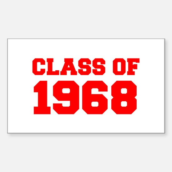 CLASS OF 1968-Fre red 300 Decal