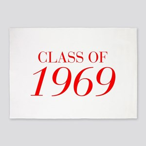 CLASS OF 1969-Bau red 501 5'x7'Area Rug