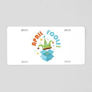 April Fools Aluminum License Plate