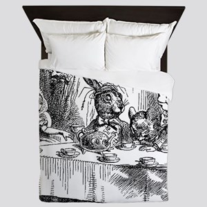 Alice in Wonderland Tea party Queen Duvet