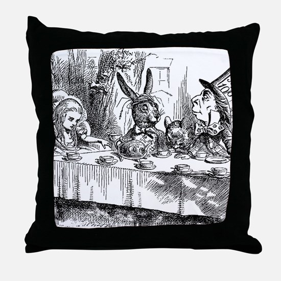 Alice in Wonderland Tea party Throw Pillow