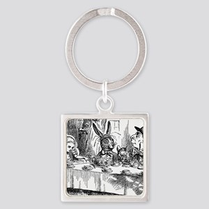Alice in Wonderland Tea party Square Keychain