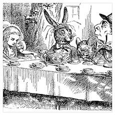 Alice in Wonderland Tea party Poster