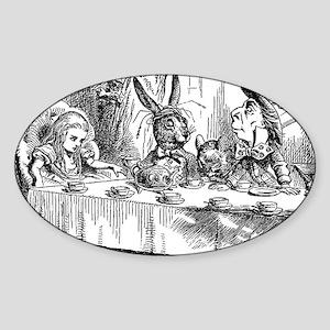 Alice in Wonderland Tea party Sticker (Oval)