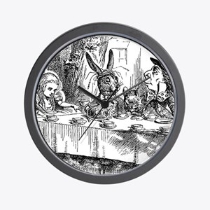 Alice in Wonderland Tea party Wall Clock