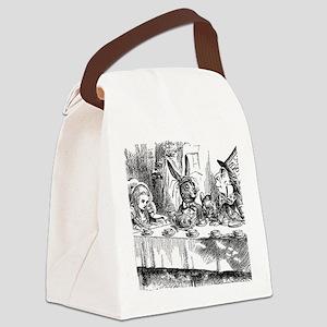 Alice in Wonderland Tea party Canvas Lunch Bag