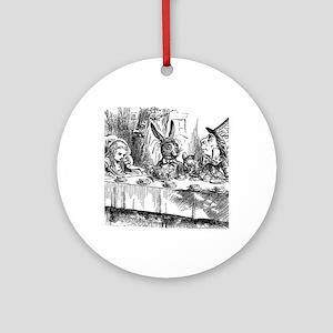 Alice in Wonderland Tea party Round Ornament