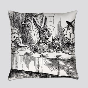 Alice in Wonderland Tea party Everyday Pillow