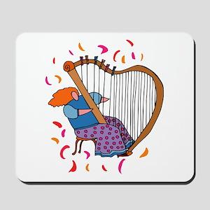 Funny Harp Player Mousepad