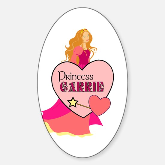 Princess Carrie Oval Decal