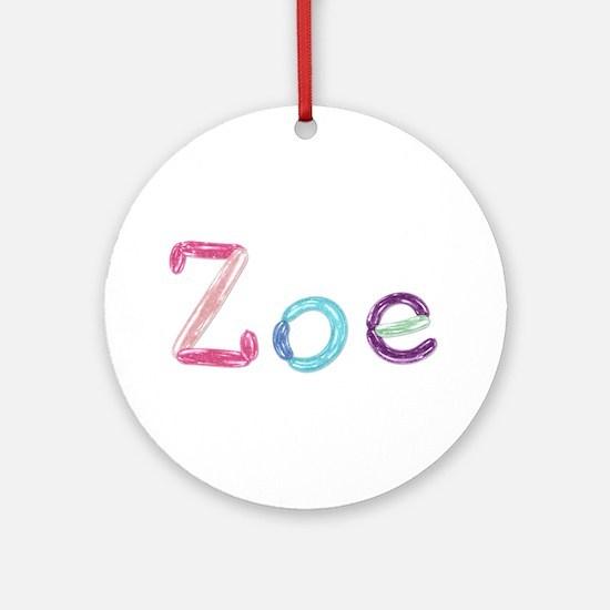 Zoe Princess Balloons Round Ornament