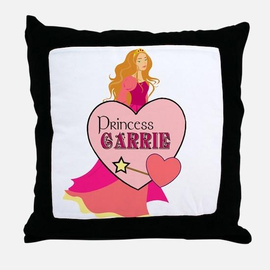 Princess Carrie Throw Pillow