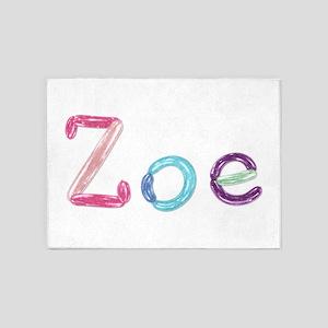 Zoe Princess Balloons 5'x7' Area Rug