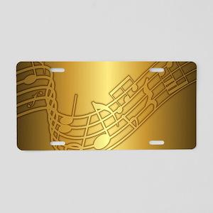 Musical (G) Aluminum License Plate