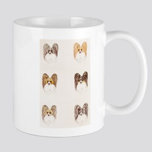 Papillon headstudies Mugs