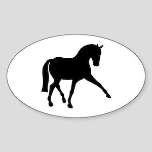 Sidepass Dressage Horse Sticker (Oval)
