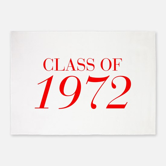CLASS OF 1972-Bau red 501 5'x7'Area Rug