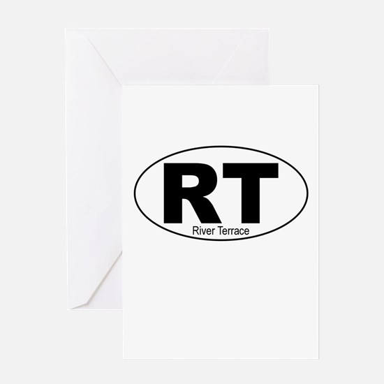 River Terrace Decal-Style Greeting Card