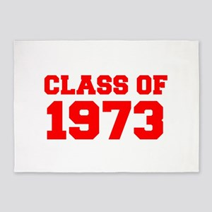 CLASS OF 1973-Fre red 300 5'x7'Area Rug