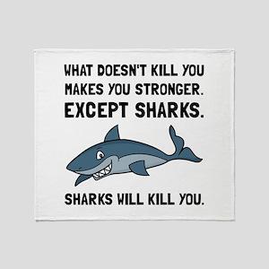 Sharks Will Kill You Throw Blanket