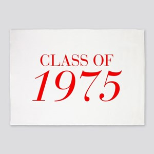 CLASS OF 1975-Bau red 501 5'x7'Area Rug