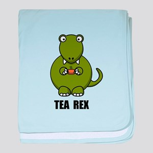 Tea Rex Dinosaur baby blanket