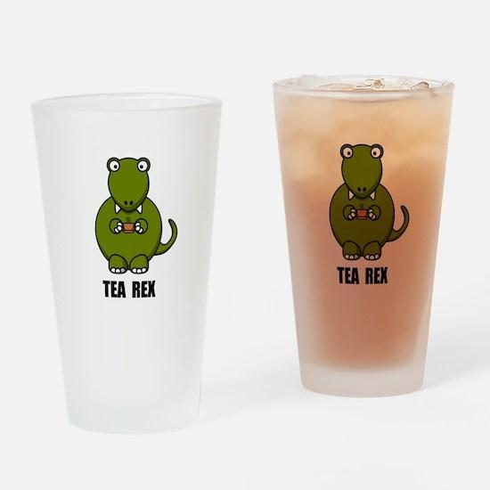 Tea Rex Dinosaur Drinking Glass