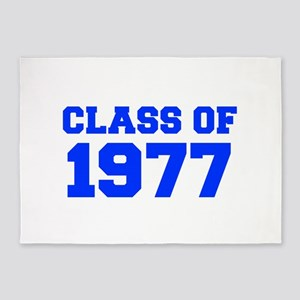 CLASS OF 1977-Fre blue 300 5'x7'Area Rug