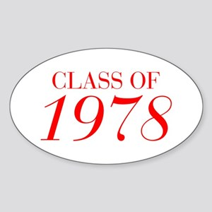 CLASS OF 1978-Bau red 501 Sticker