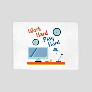 Work Hard 5'x7'Area Rug