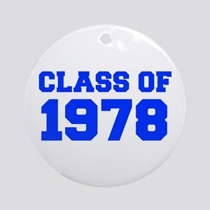 CLASS OF 1978-Fre blue 300 Ornament (Round)