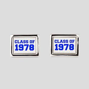 CLASS OF 1978-Fre blue 300 Rectangular Cufflinks