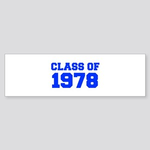 CLASS OF 1978-Fre blue 300 Bumper Sticker