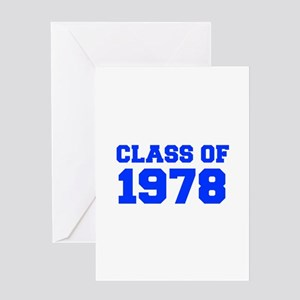 CLASS OF 1978-Fre blue 300 Greeting Cards