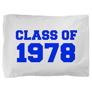 CLASS OF 1978-Fre blue 300 Pillow Sham