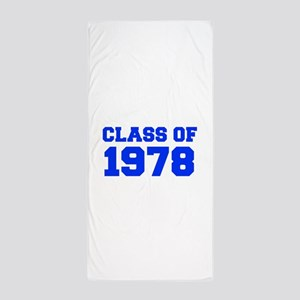 CLASS OF 1978-Fre blue 300 Beach Towel