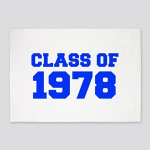 CLASS OF 1978-Fre blue 300 5'x7'Area Rug
