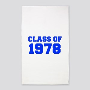 CLASS OF 1978-Fre blue 300 Area Rug