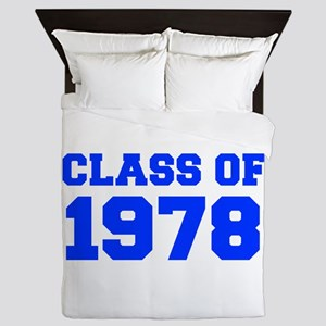 CLASS OF 1978-Fre blue 300 Queen Duvet