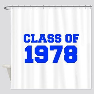 CLASS OF 1978-Fre blue 300 Shower Curtain