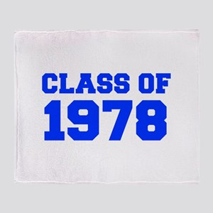 CLASS OF 1978-Fre blue 300 Throw Blanket